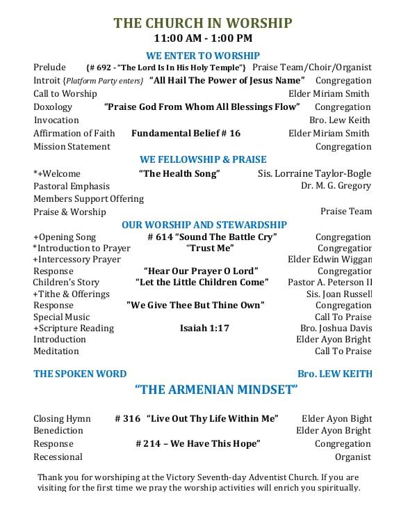 sample-worship-program