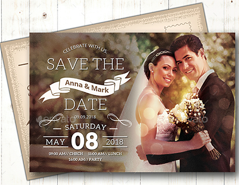Save the Date Invitation Format Template