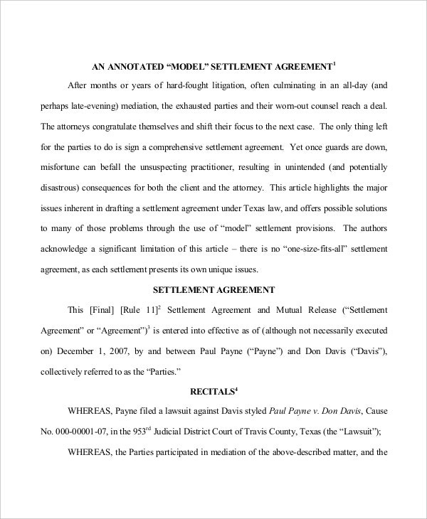 settlement-agreement-for-real-estate