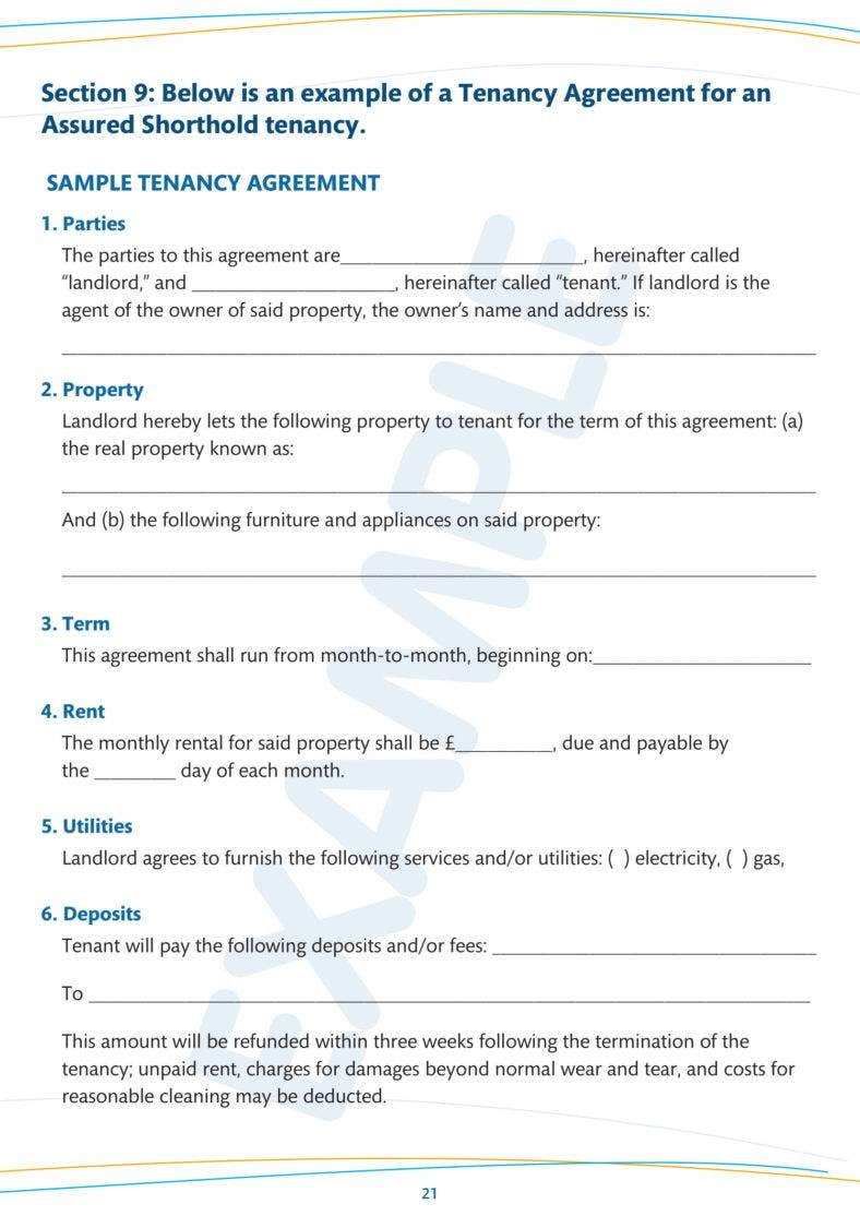 9 Simple Tenancy Agreement Templates Pdf Free Premium