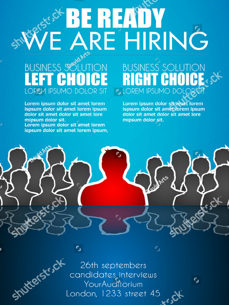 silhouette characters job hiring flyer template 788x1050