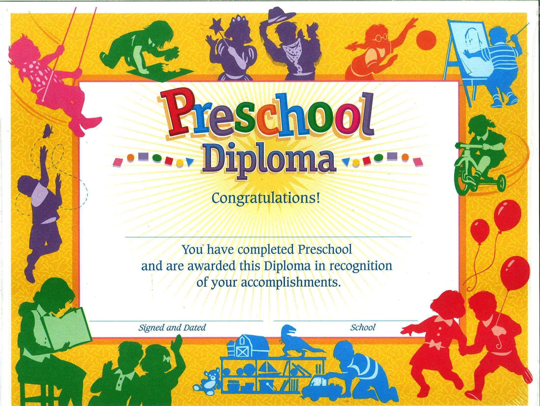 photo about Preschool Certificates Printable identified as 11+ Preschool Certification Templates - PDF Cost-free Top quality