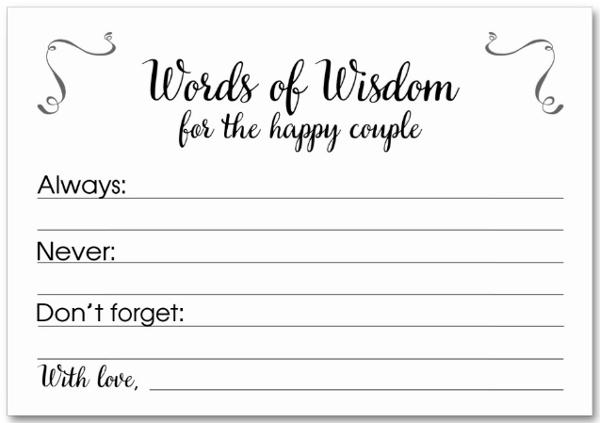 simple advice card template