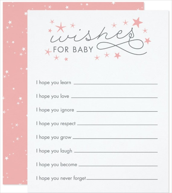 Simple Baby Wishes Card Template