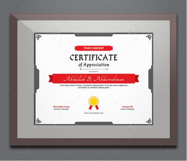 simple employee certificate of appreciation
