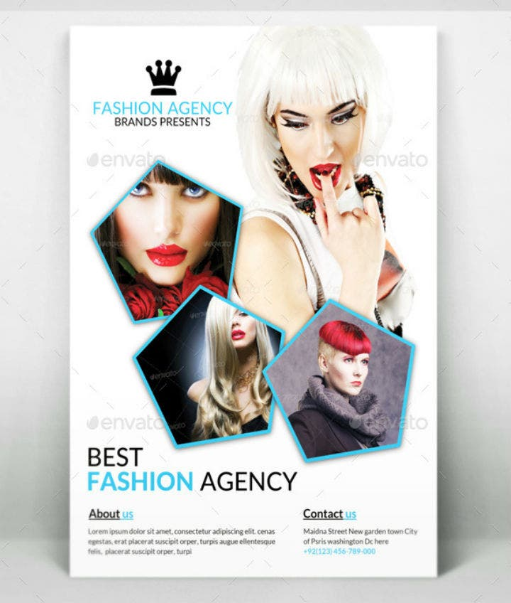 simple fashion agency flyer template