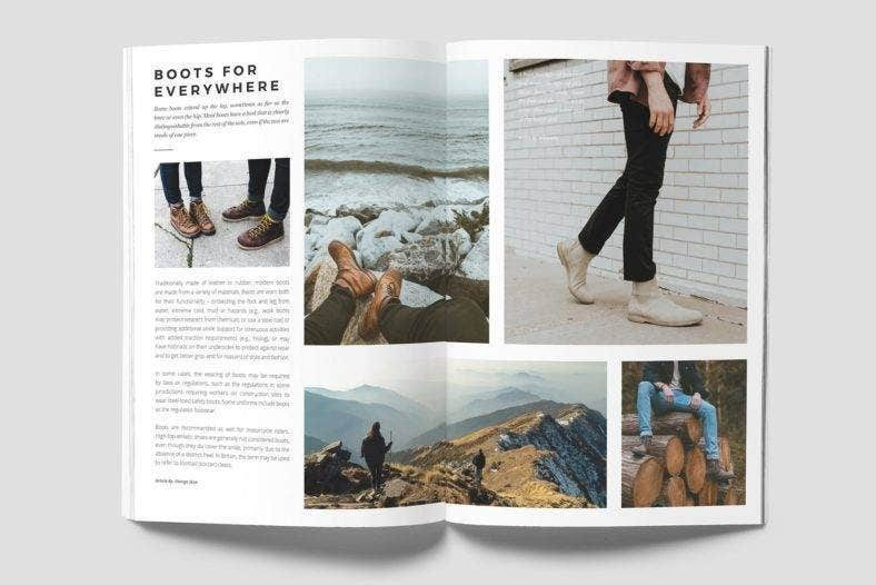 simple fashion magazine template 788x526