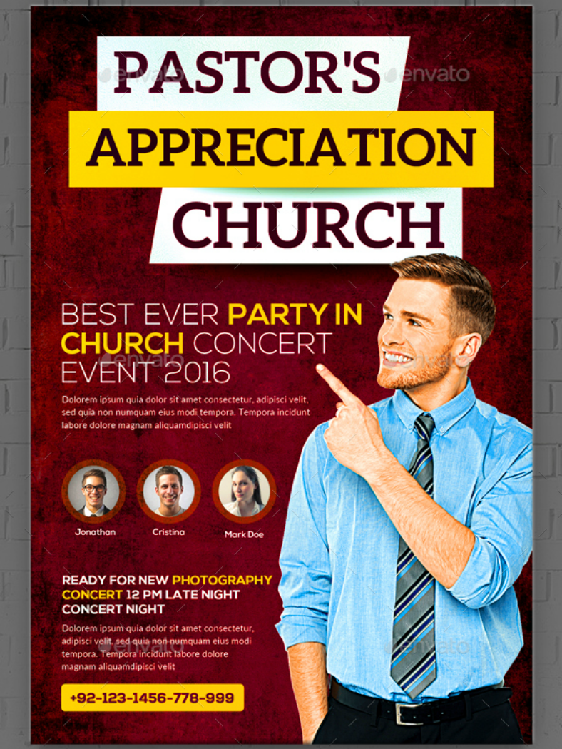 simple formal church pastor appreciation template 788x1050