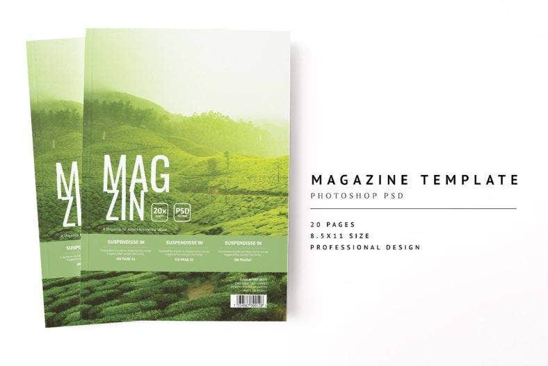 simple magazine template 788x527