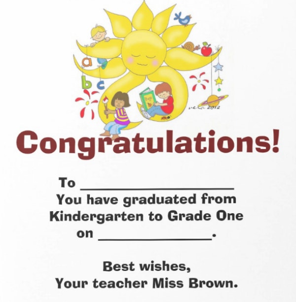 Simple Preschool Graduate Certificate
