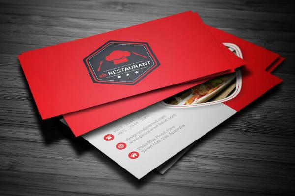 Simple Restaurant Business Card Template