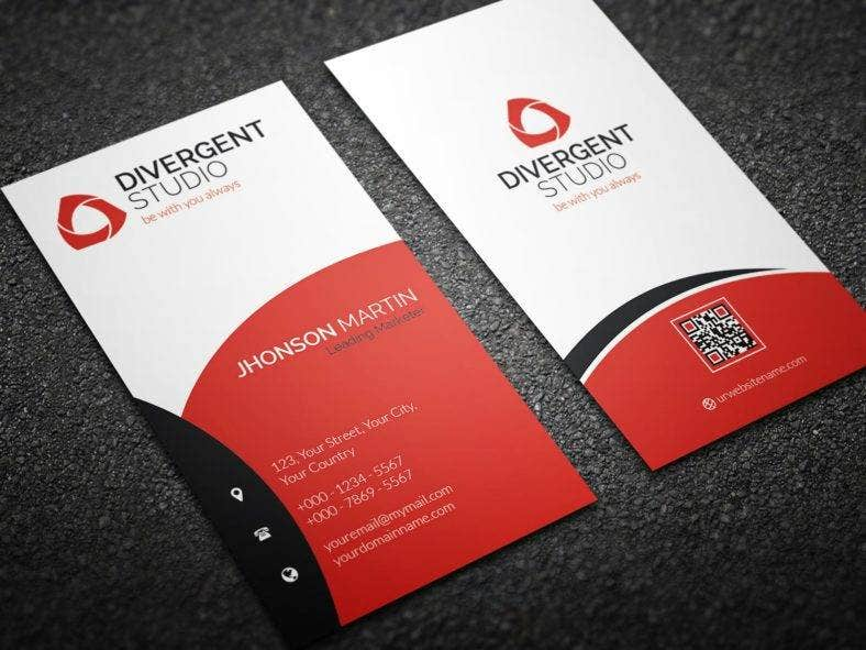 simple vetical business card template 788x591