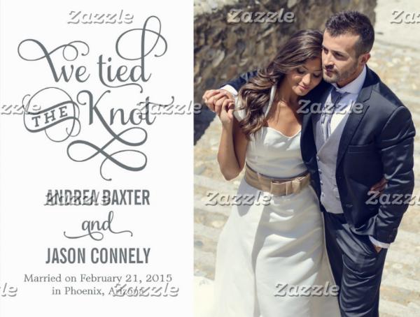 Simple Wedding Postcard Template
