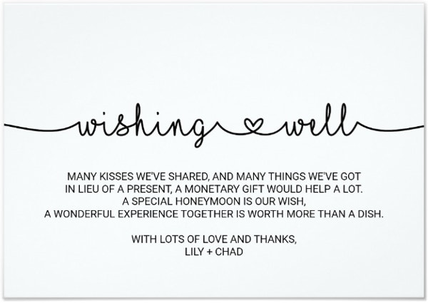 Simple Wedding Wish Card Template