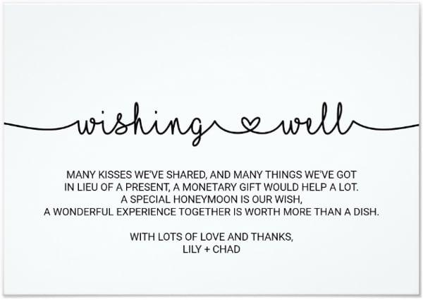 simple wedding wish card template