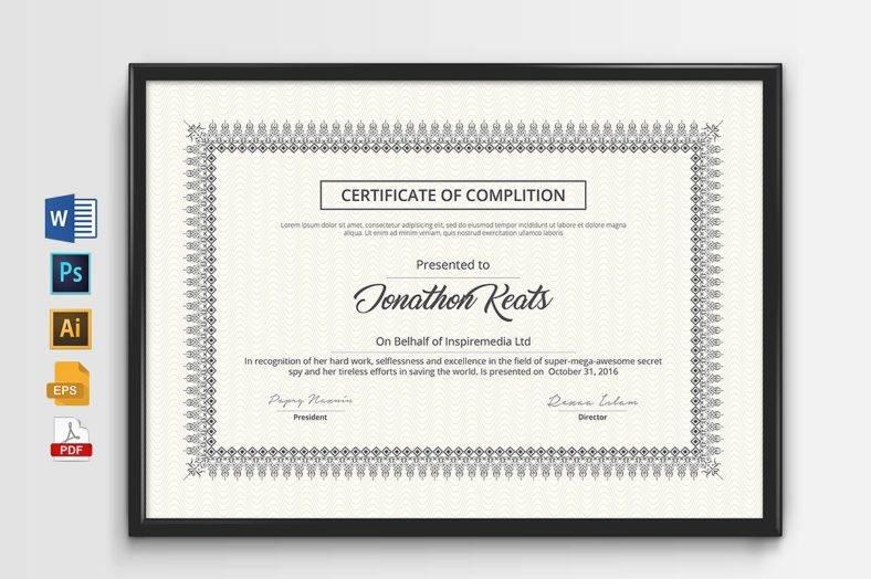 simple and clean multipurpose certificate1 788x524