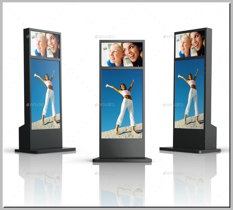 Simplistic Digital Advertising Signage Mockup
