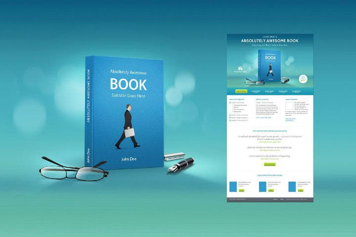 sky-blue-marketing-book-cover-template