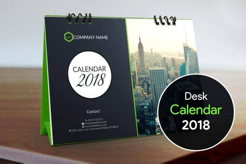 sleek table calendar template 788x525