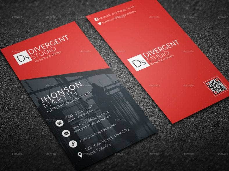 11 vertical business card designs templates psd ai indesign sleek vertical business card template accmission Images