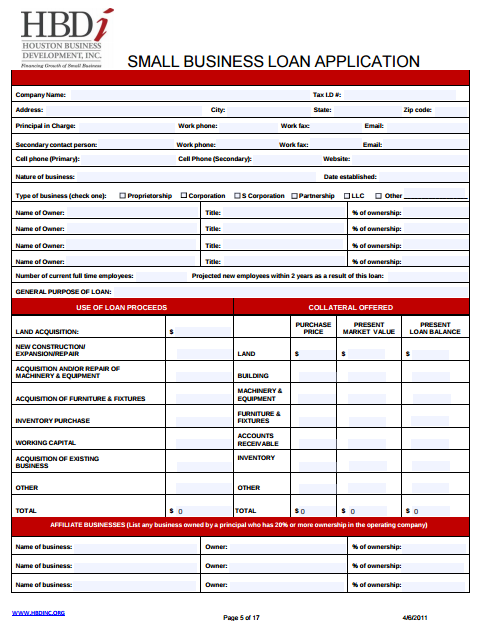 Small-Business-Loan-Application Sample Business Loan Application Form on