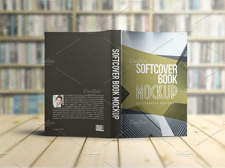 softcover accounting book mockup cover template