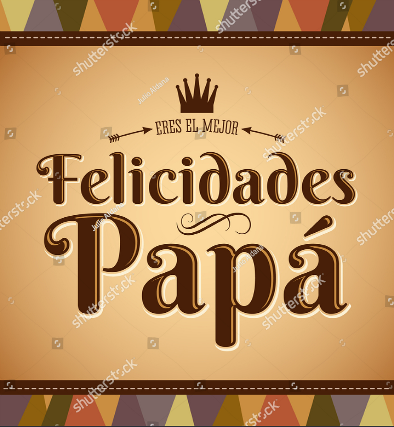 Spanish Dad Birthday Card Template