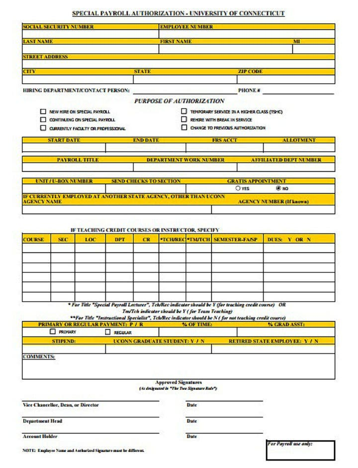 special-employee-payroll-authorization-form-template
