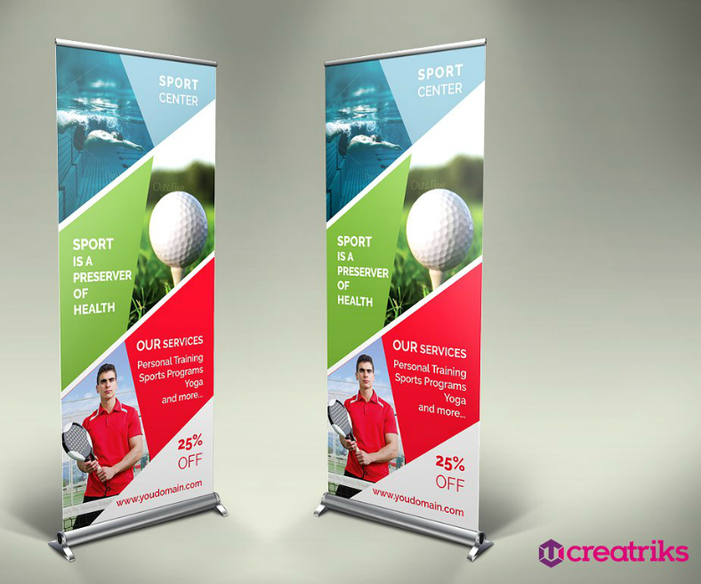 Sports Center Rollup Banner Template