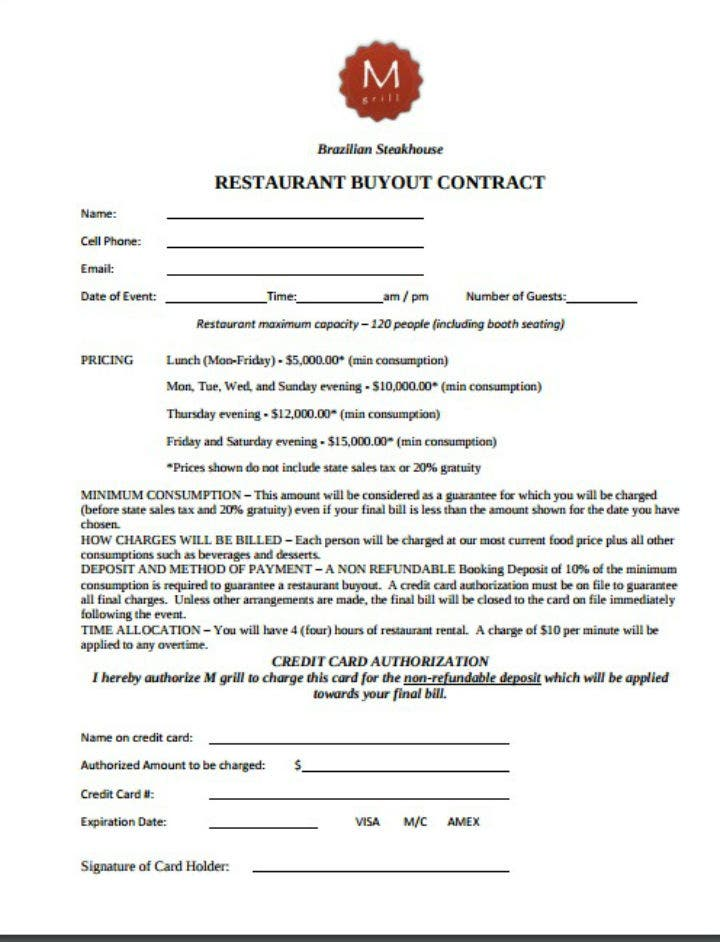 steakhouse-restaurant-buyout-contract-template