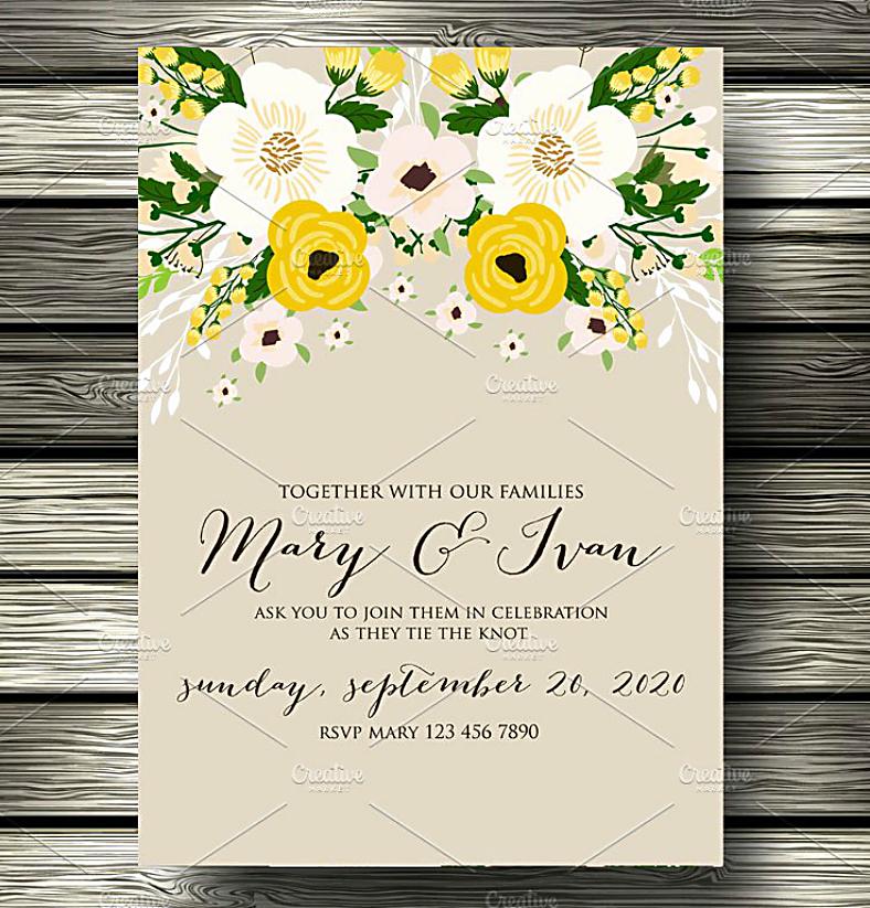 stock flowers wedding invitaton format 788x823