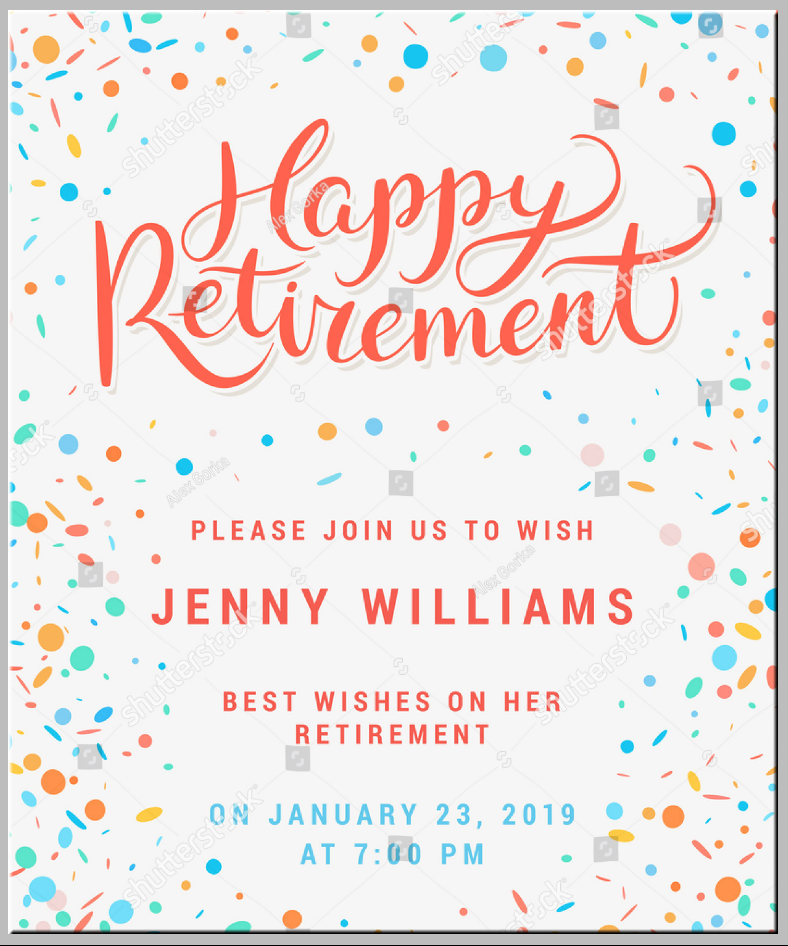 Stock Happy Retirement Party Invitation