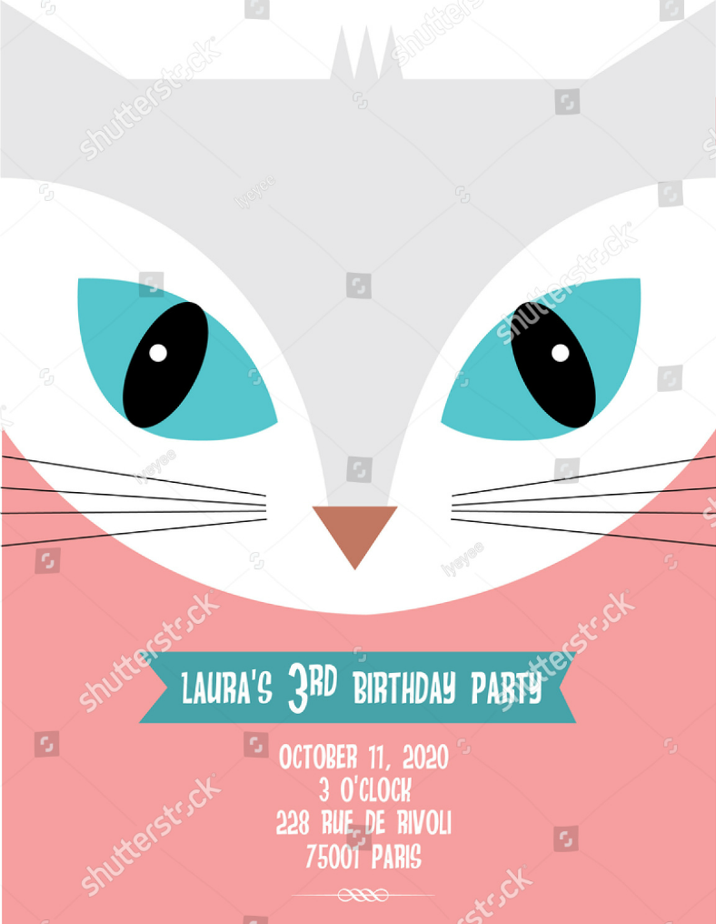15+ Kitty Themed Invitation Card Designs & Templates - PSD, AI ...