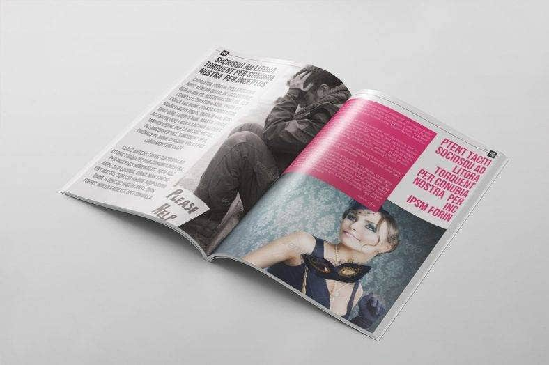 stylish magazine template 788x524