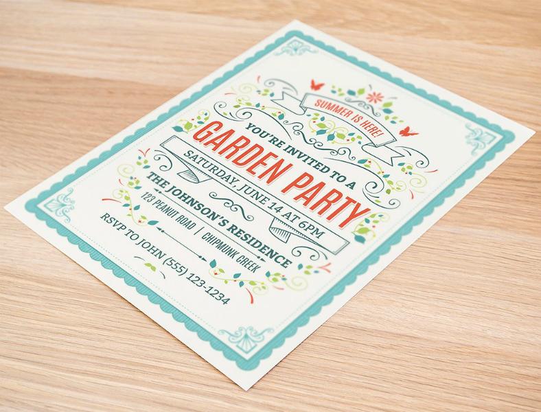 summer garden party invitation format 788x600