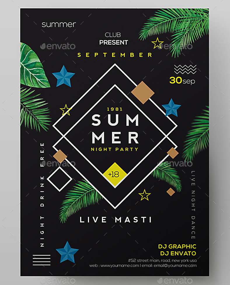 summer night beach party flyer 788x975