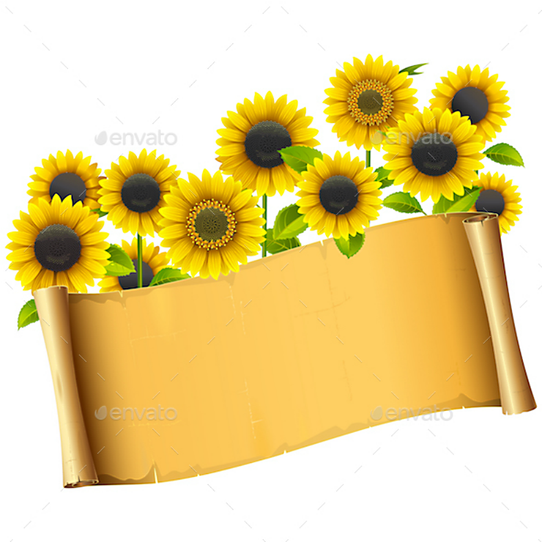 Sunflower Vintage Placard Template