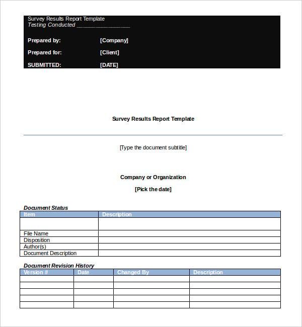 16 survey report templates pdf doc free premium templates