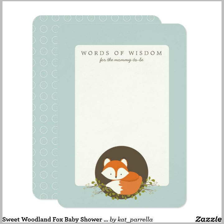 sweet-woodland-fox-baby-shower-advice-card-template