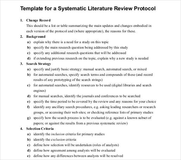 systematic literature review