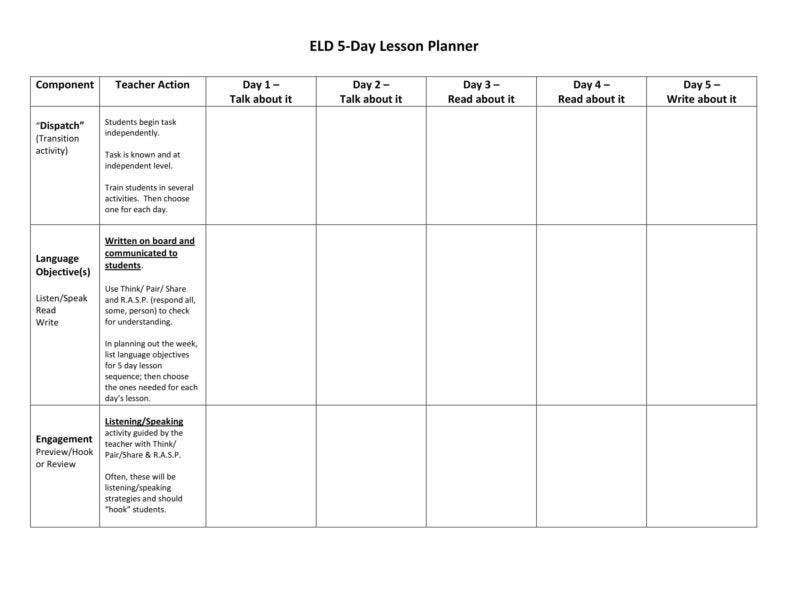 Teacher 5-Day Lesson Planner.