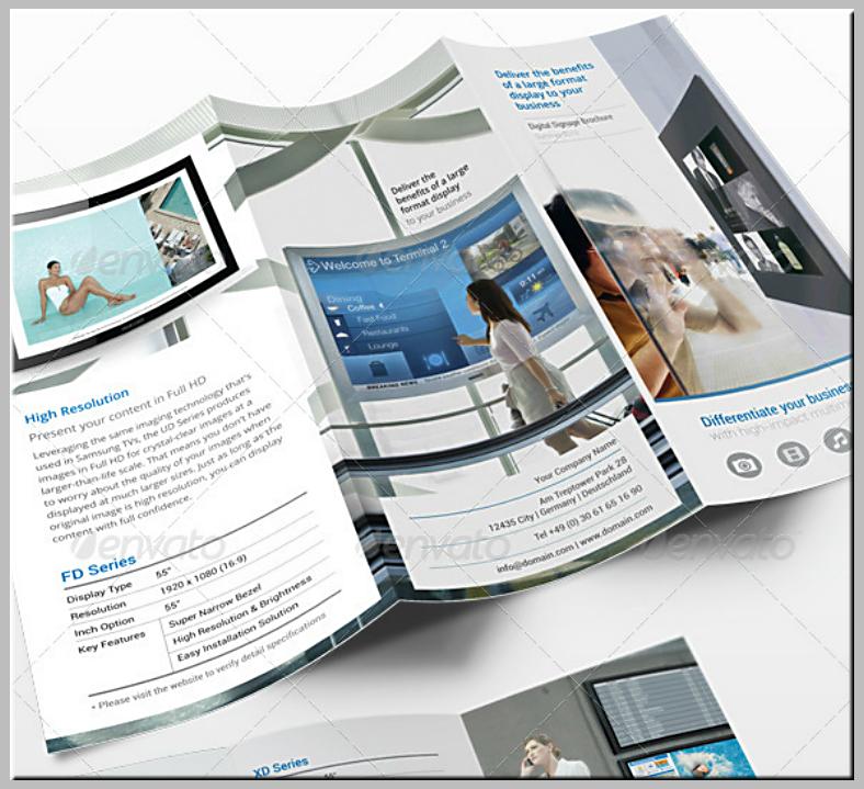 Tri-Fold Brochure Digital Signage Template