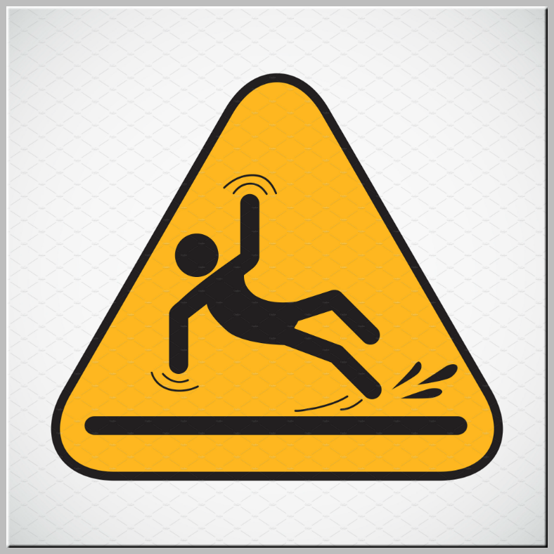 Triangular Wet Floor Caution Sign Template