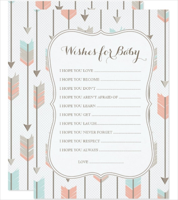 Tribal Arrows Baby Wishes Card Template