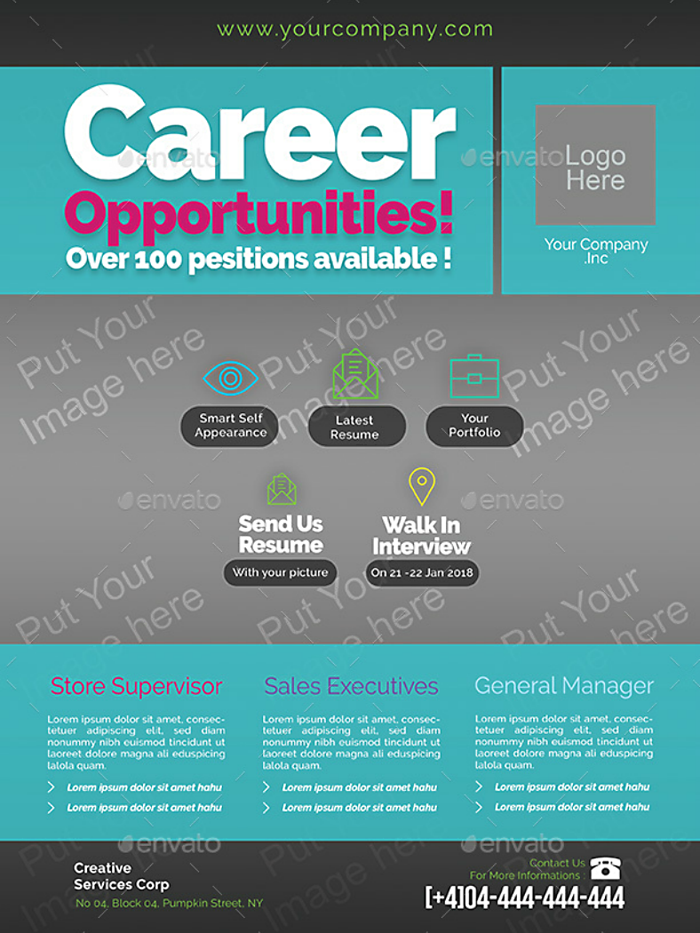 Typographic Job Opportunities Flyer Template