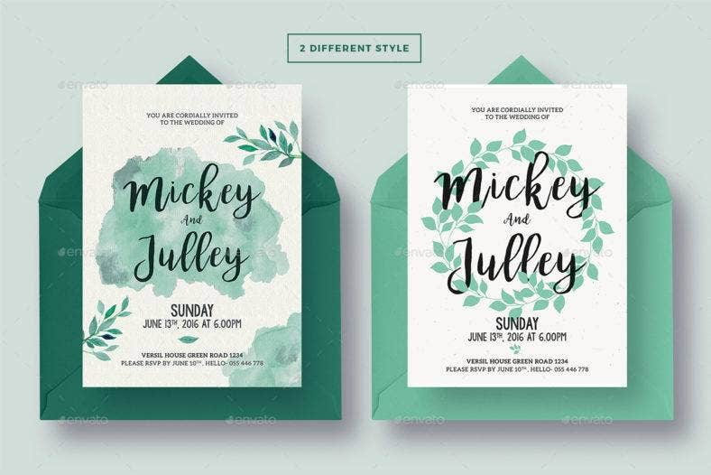 typography marriage invitation template 788x526