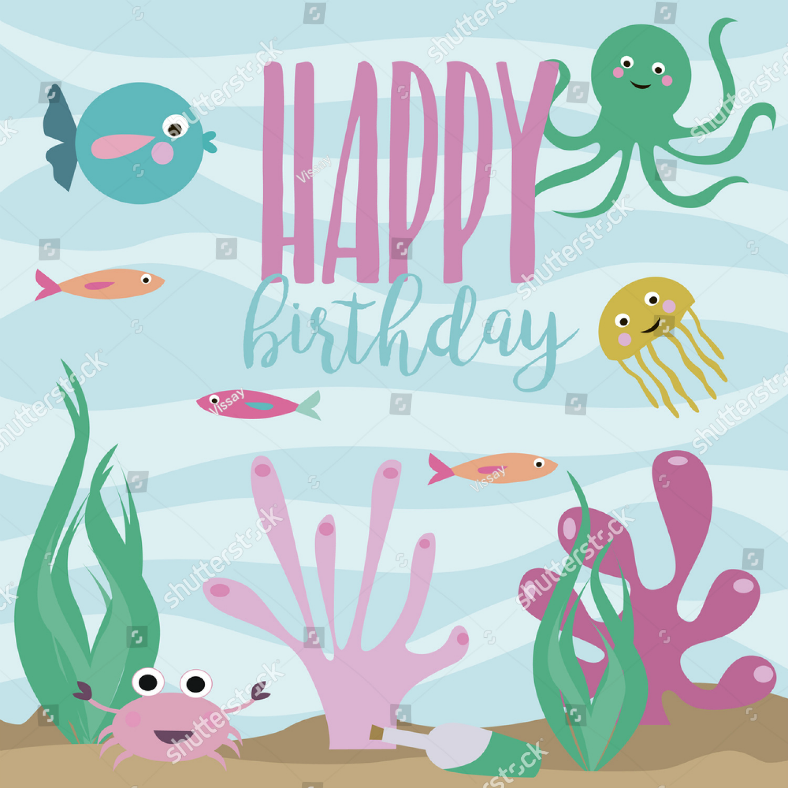 under the sea birthday invitation template 788x788