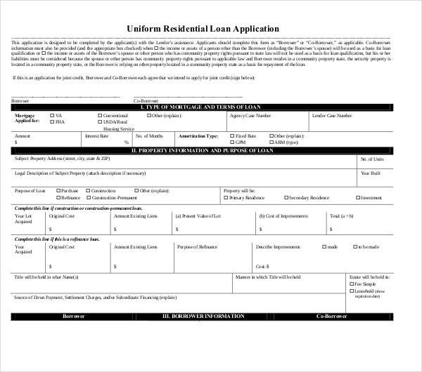 10 loan application templates pdf doc free premium templates