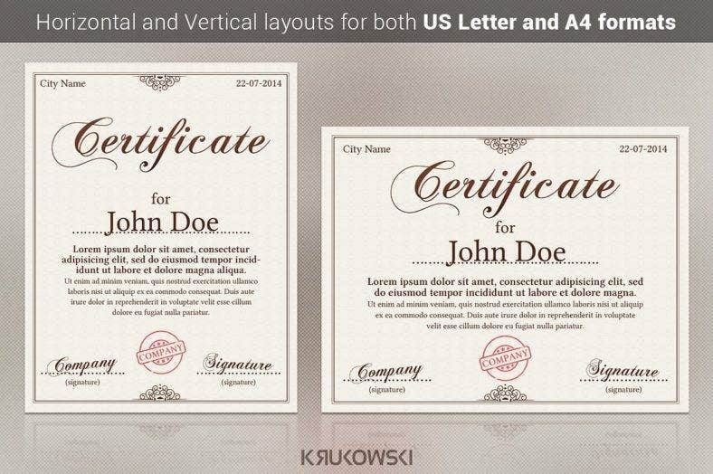 universal certificate template 788x524