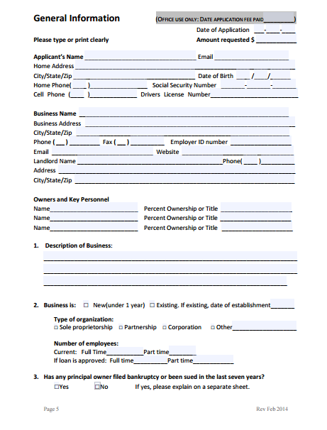 9  business loan application form templates